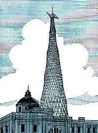 Радиобашня Шаболовского радиоцентра в Москве, 1922 г.